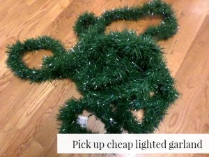 To make your Christmas tree look fuller, use pre-lit garland between the branches and other spaces.