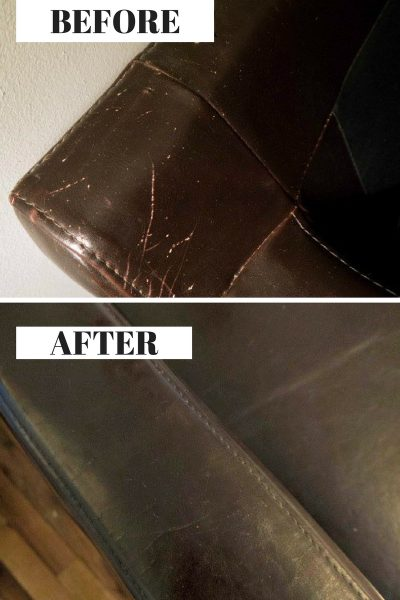 YOU WONT BELIEVE WHAT SHE USED TO GET RID OF SCRATCHES ON HER LEATHER SOFA!