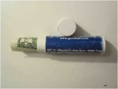 Hide money in lip balm containers for emergencies. Keep in your car or purse.