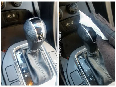 Clean your car's steering wheel and gear shifter with a cleaning wipe daily.