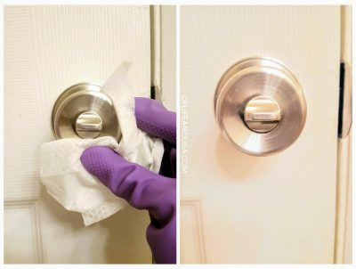 Clean the doorknobs in your home daily to reduce sickness in the home during flu season.