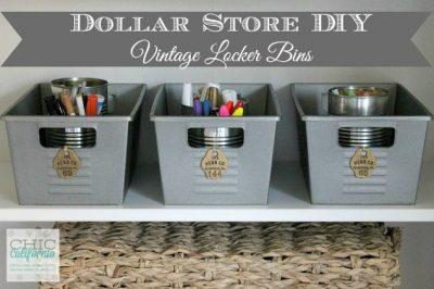 Love these dollar store bins!
