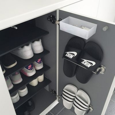 Shoe organizing. Love this idea!