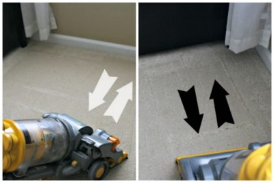 Make sure to vacuum your floors both ways to ensure that you are cleaning all the dirt from your carpet fibers!