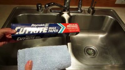 Great tip for keeping your stainless steel sink shiny!