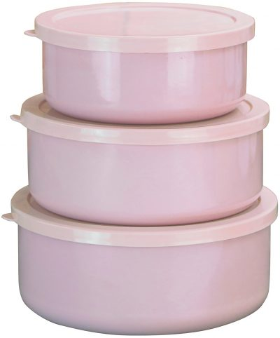 Love these pink containers for food storage!
