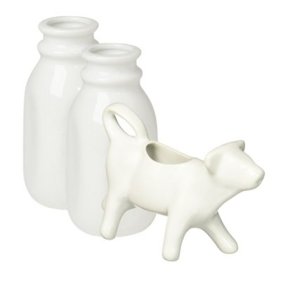 This lovely little cow creamer is the perfect item to add to your farmhouse vignette.