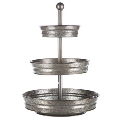 This galavanized tiered stand would look great for my farmhouse vignette!