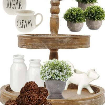 5 Essential Items You Need to Style a Farmhouse Tiered Tray