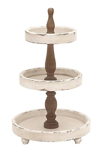 This tiered tray is absolutely lovely! It would look so nice for my farmhouse themed vignette.