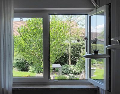 Keep your home smelling fresh by opening the windows throughout the day.