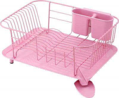 Pink dish rack! love this!