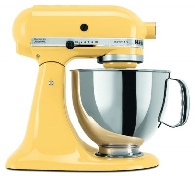 I'm so loving this yellow KitchenAid stand mixer! I need this in my kitchen!