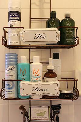 Keep your shower essentials organized and separate from each other.