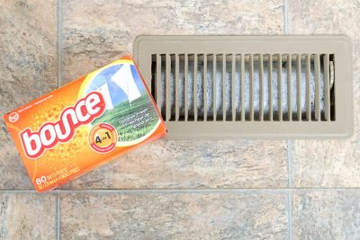 dryer sheet in vent e1524153316447 - 7 Ways to Make Your House Smell Absolutely Wonderful