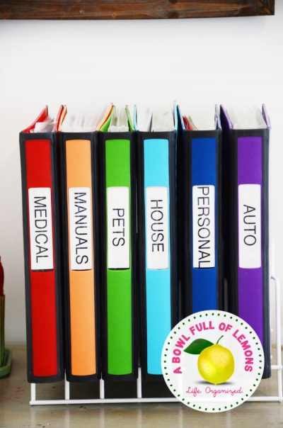 A great way to keep important documents organized in the home.
