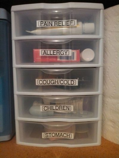 organize medicine e1522853274950 - 11 of the BEST Organizing Ideas for Your First Home