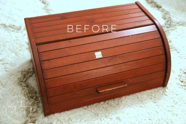 bread box before - 10 Simple Thrift Store Makeover Ideas You'll Want to Steal