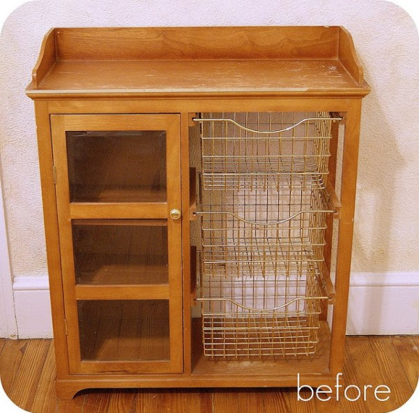 storage cabinet before - 10 Simple Thrift Store Makeover Ideas You'll Want to Steal