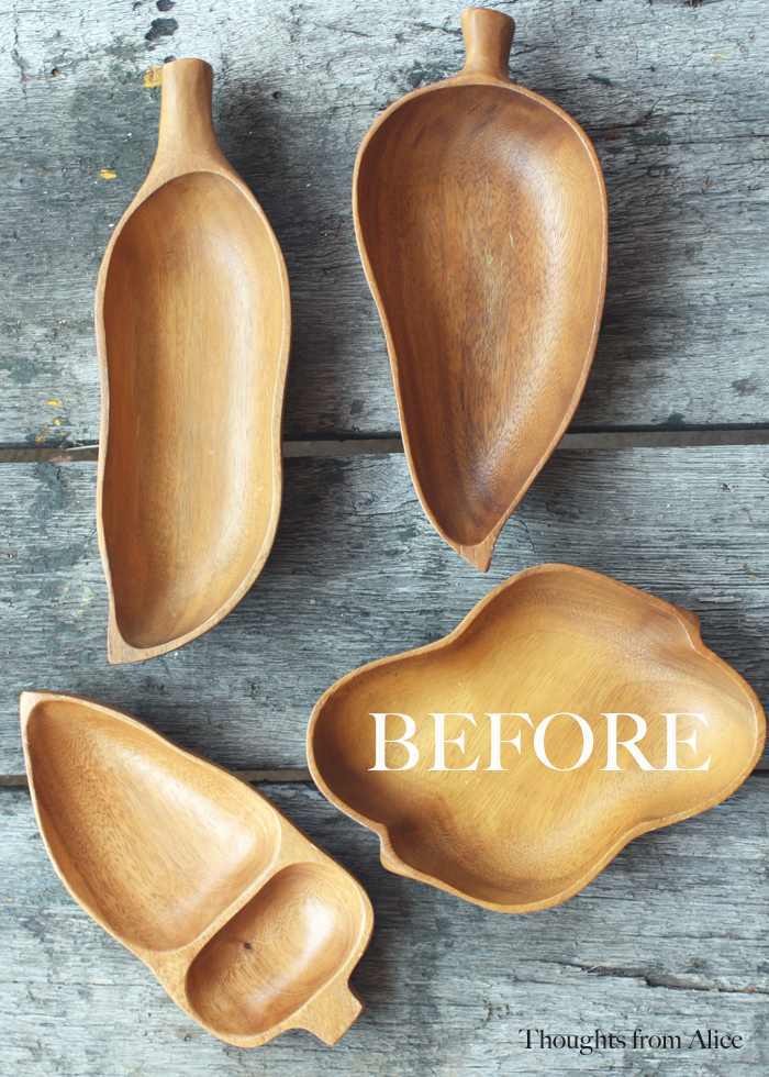 thift store leaf bowls before - 10 Simple Thrift Store Makeover Ideas You'll Want to Steal