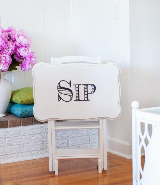 tv tray - 10 Simple Thrift Store Makeover Ideas You'll Want to Steal