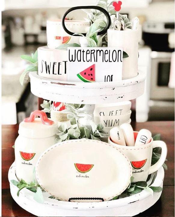 Cute! Summer tray ideas