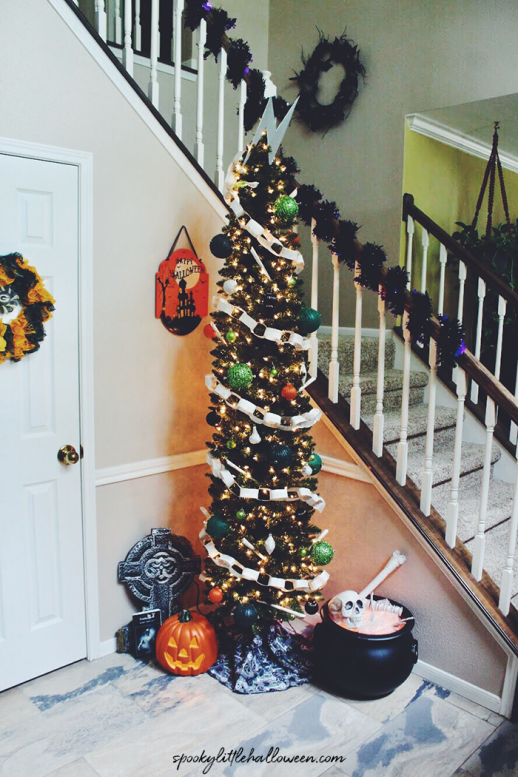 Frankentstein halloween tree - 18 Best Halloween Christmas Tree Decorating Ideas for 2019