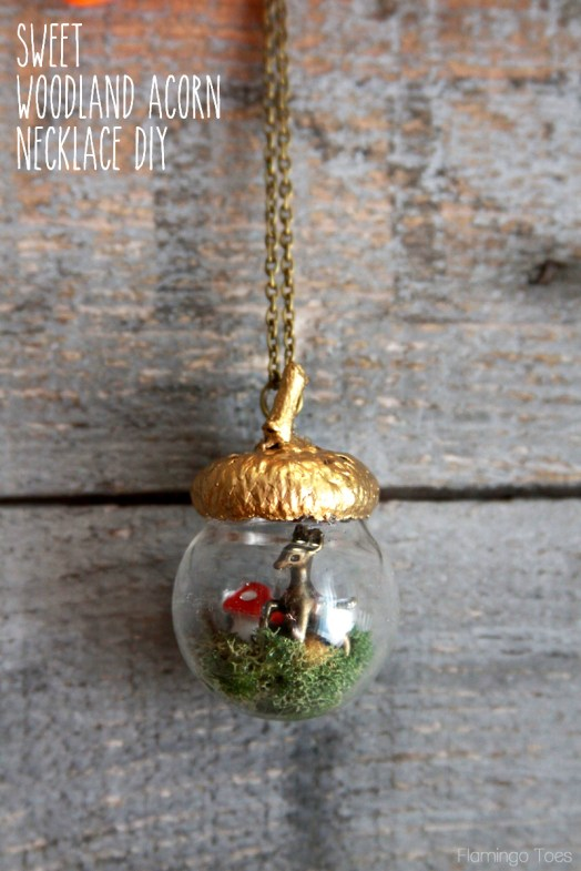 diy acorn necklace - 30+ Fall Craft Ideas to Make and Sell for Extra Money