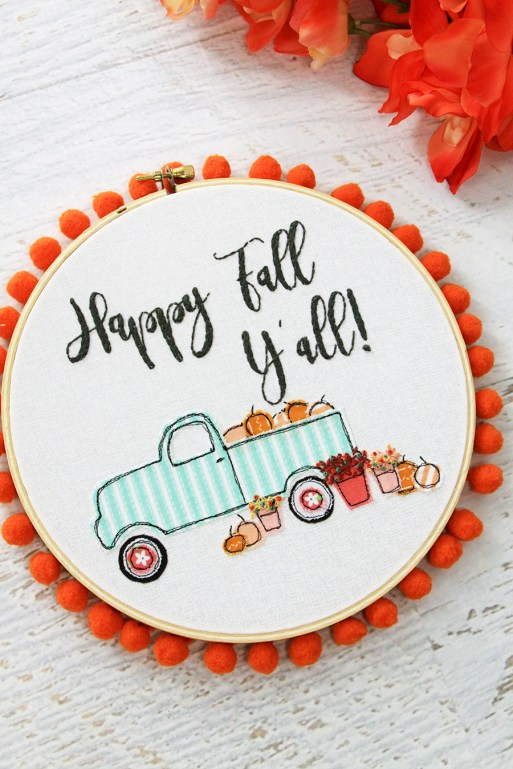 fall embroidery hoop - 30+ Fall Craft Ideas to Make and Sell for Extra Money