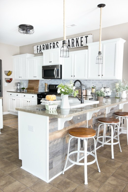 farmhoouse kitchen makeover - 18 Cheap and Easy DIY Rustic Farmhouse Home Decor Ideas