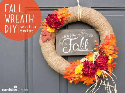 finished wreath1 - 30+ Fall Craft Ideas to Make and Sell for Extra Money