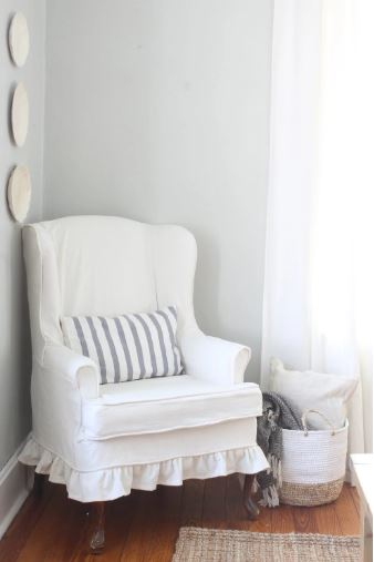 slip cover wingback chair - 18 Cheap and Easy DIY Rustic Farmhouse Home Decor Ideas