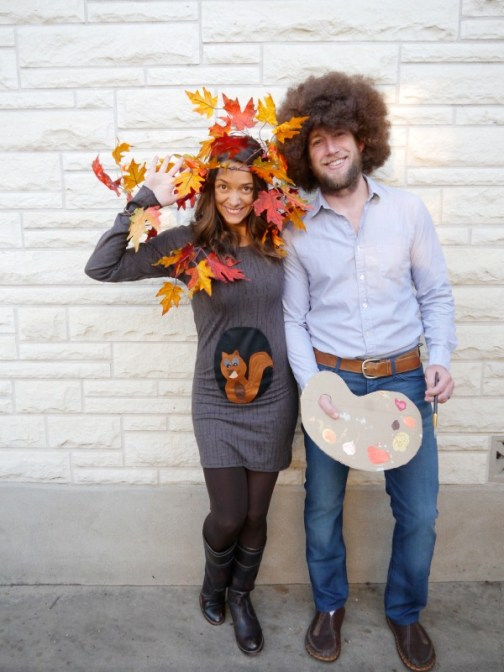 bob ross halloween costume - 50 Best Couples Halloween Costume Ideas for 2019