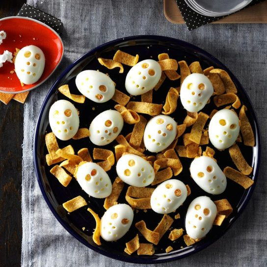 halloween skull deviled eggs 1024x1024 - 15 Most Brilliant Halloween Party Food Ideas