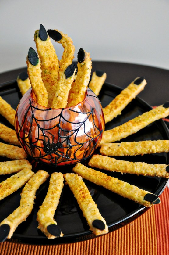 halloween witch fingers party foods - 15 Most Brilliant Halloween Party Food Ideas