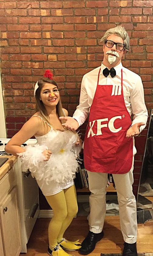 kfc couples halloween costume 1 - 50 Best Couples Halloween Costume Ideas for 2019