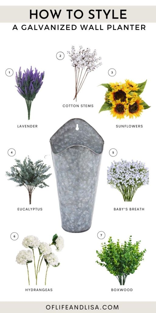 7 Best Flowers To Style A Galvanized Metal Wall Planter Of Life And Lisa