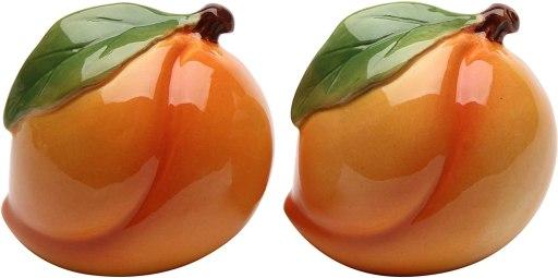 peach salt and pepper shaker