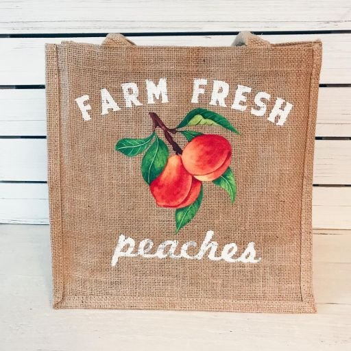 Peach tote