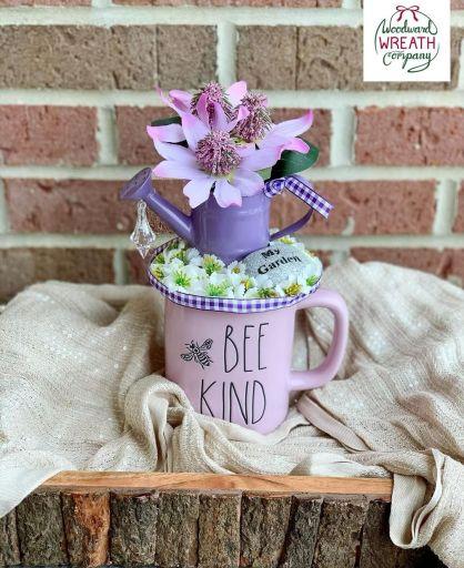 Bee Kind Purple Rae Dunn Coffee Mug Décor