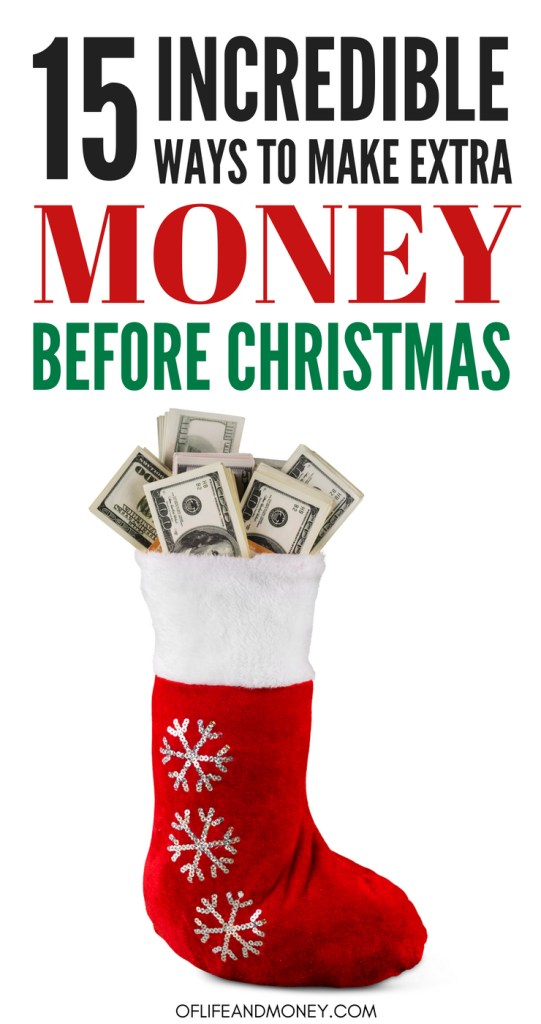 OMG! I LOVE THESE WAYS TO MAKE MONEY! I might start working on doing one of these side gigs today! I will have made a ton of extra money before Christmas! #christmas #money #sidehustles