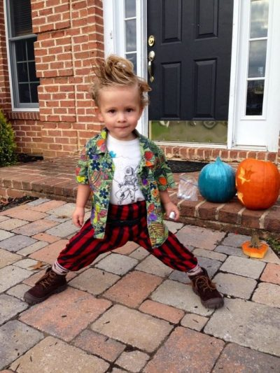 He is TOO adorable! | Ace Ventura Halloween Costume Idea for Toddler Boys