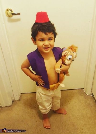 He's so CUTE!! OMG! | Aladdin Halloween Costume Idea for Toddler Boy
