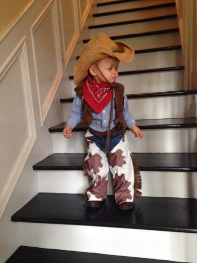 He's so CUTE! OMG! | Cowboy Halloween Costume Idea for Toddler Boy