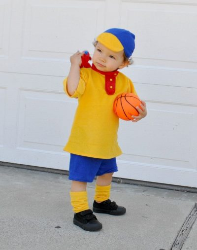 SO adorable! | DIY Caillou Halloween Costume Idea for Boys