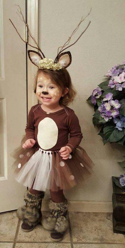 SUPER cute!! Deer Halloween costume for Toddler girl