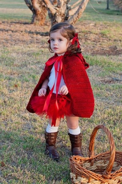 I love her little boots! Little Red Riding Hood Halloween costume for toddler girls