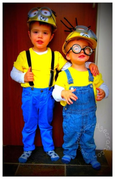 They are SUPER adorable! OMG | Minions Halloween Costume Idea for Toddlers