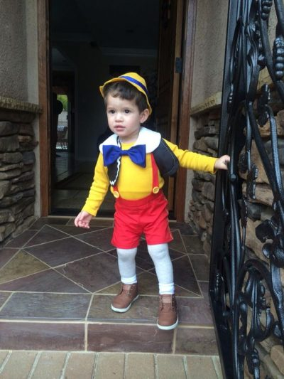 He's just TOO CUTE! OMG | Pinnochio Halloween Costume Idea for Toddler Boy