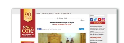 CNEWA Helps Spread Franciscan Message on Syria